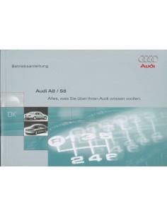 1998 AUDI A8 / S8 INSTRUCTIEBOEKJE DUITS