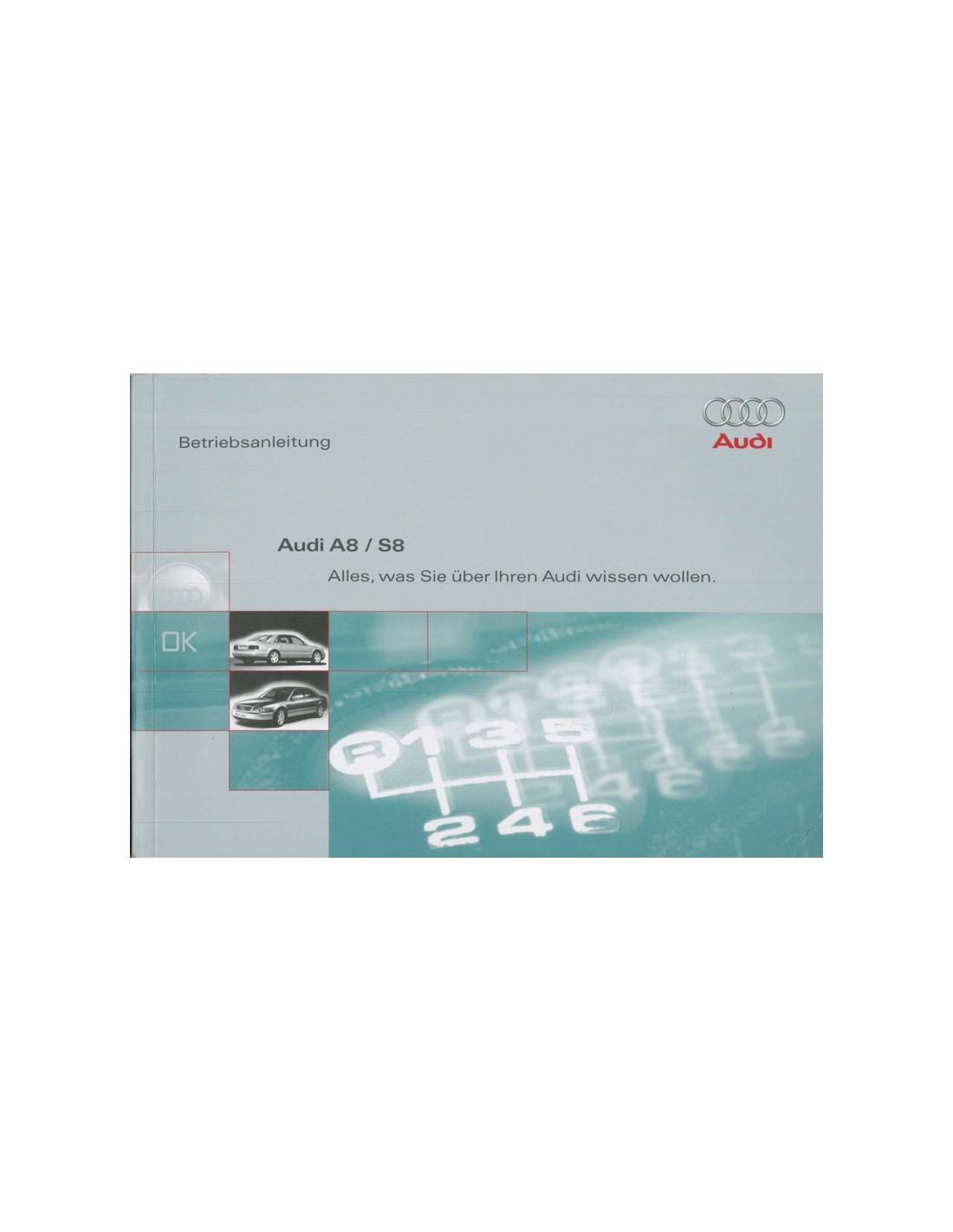 2000 audi a8 owner s manual german rh autolit eu 2008 Audi A8 audi a8 owners manual