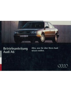 1994 AUDI A6 INSTRUCTIEBOEKJE DUITS