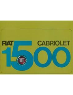 1965 FIAT 1500 CABRIOLET BROCHURE FRANS