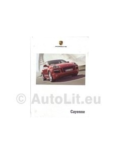 2008 PORSCHE CAYENNE HARDCOVER BROCHURE ENGLISH