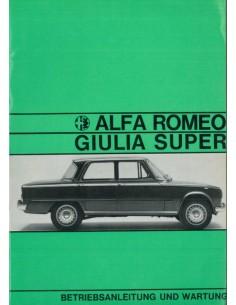 1967 ALFA ROMEO GIULIA 1600 SUPER INSTRUCTIEBOEKJE DUITS