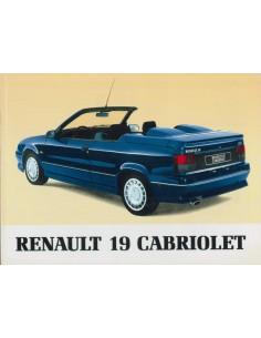 1991 RENAULT 19 CABRIOLET INSTRUCTIEBOEKJE NEDERLANDS
