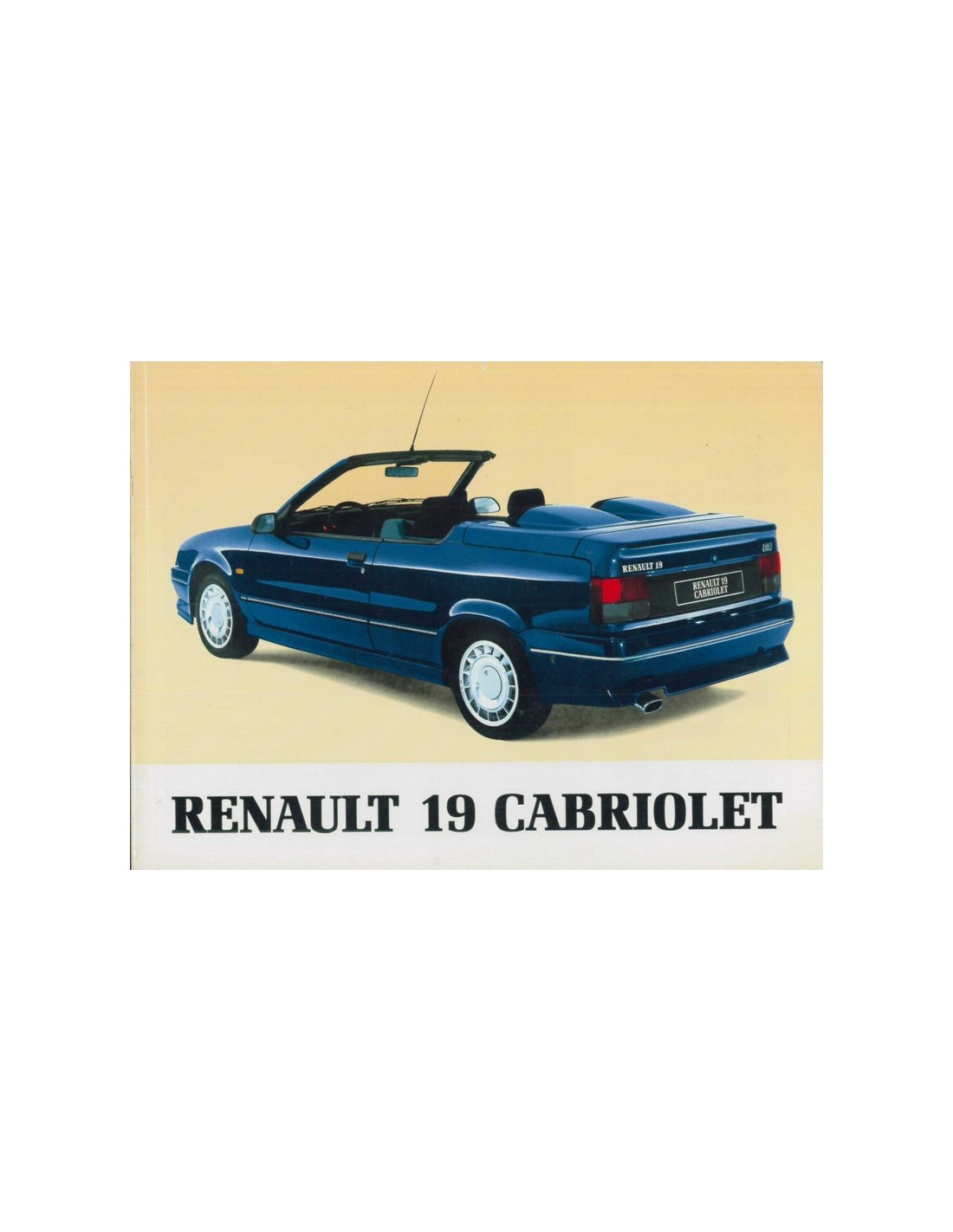 1993 renault 19 cabriolet instructieboekje nederlands. Black Bedroom Furniture Sets. Home Design Ideas