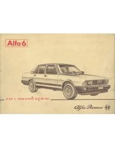 1983 ALFA ROMEO 6 INSTRUCTIEBOEKJE ITALIAANS
