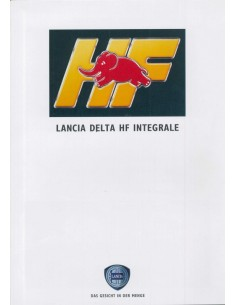 1991 LANCIA DELTA HF INTEGRALE BROCHURE DUITS