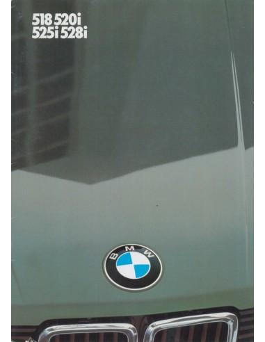 1983 BMW 6 SERIES BROCHURE GERMAN