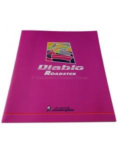 1996 Lamborghini Diablo Roadster Brochure Engels