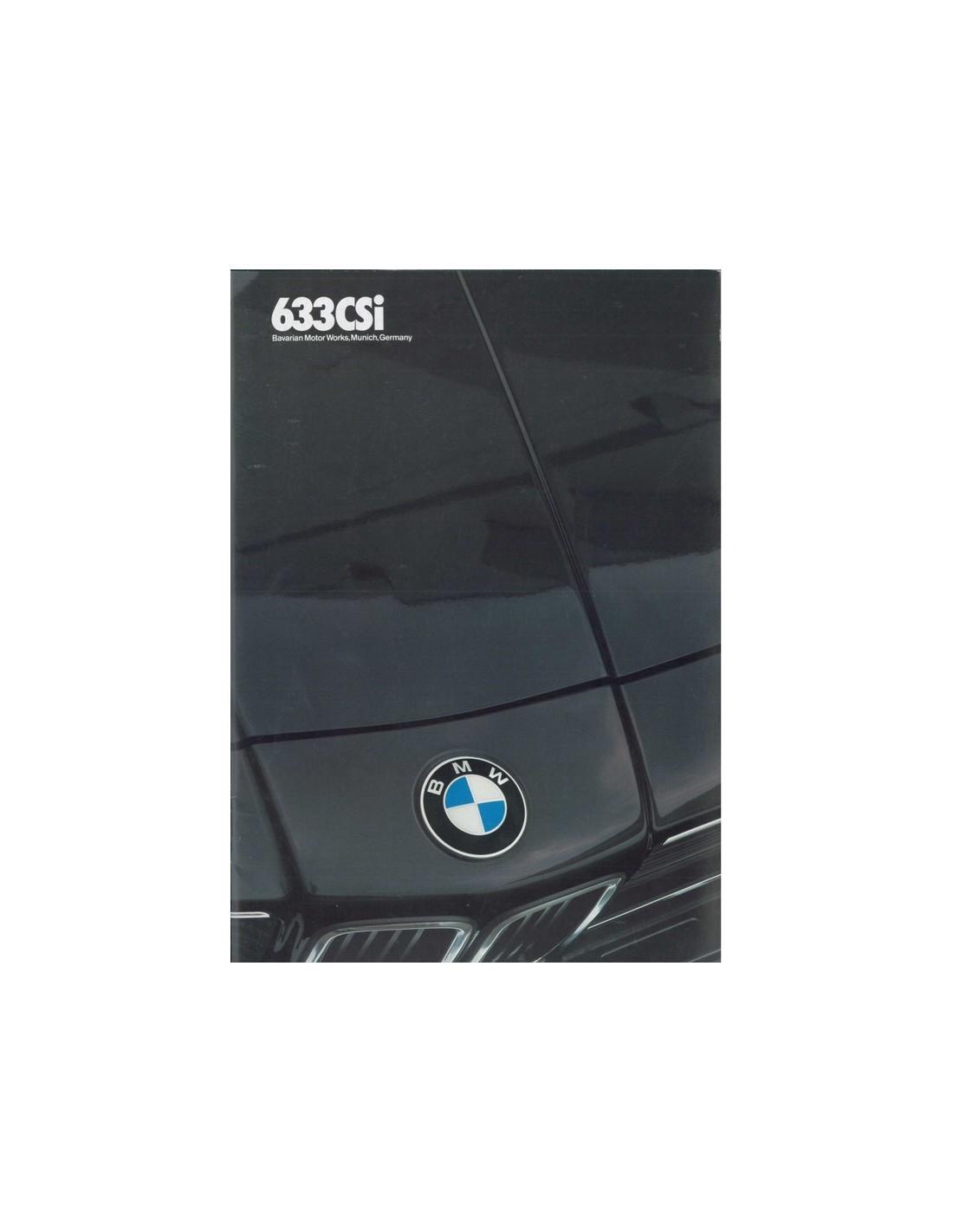 Bmw Z3 Brochure: 1983 BMW 6 SERIE BROCHURE ENGELS USA