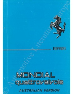 1984 FERRARI MONDIAL QUATTROVALVOLE OWNER'S MANUAL (AUSTRALIEN VERSION)