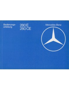1982 MERCEDES BENZ E CLASS OWNER'S MANUAL GERMAN