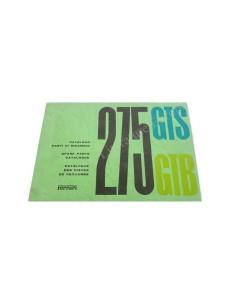 1965 FERRARI 275 GTB & GTS ERSATZTEILKATALOG
