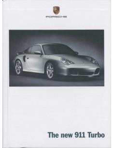 2000 PORSCHE 911 TURBO HARDCOVER PROSPEKT ENGLISCH