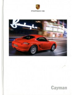 2007 PORSCHE CAYMAN HARDCOVER BROCHURE DUTCH