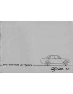 1976 ALFA ROMEO ALFETTA 1.8 BETRIEBSANLEITUNG GERMAN