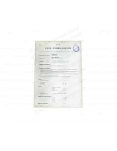 1954 ALFA ROMEO 2500 S F.I.A. HOMOLOGATION DATENBLATT FRANZÖSOSCH