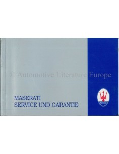 1987 MASERATI 420I MAINTENANCE & WARRANTY MANUAL ITALIAN
