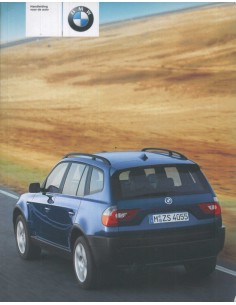 2003 BMW X3 OWNER'S MANUAL DUTCH