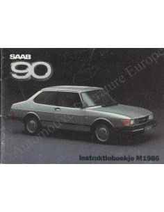 1986 SAAB 90 BETRIEBSANLEITUNG NIEDERLÄNDISCH