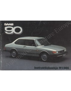 1986 SAAB 90 INSTRUCTIEBOEKJE NEDERLANDS