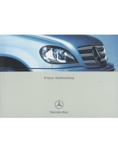 2003 MERCEDES BENZ M CLASS OWNER'S MANUAL GERMAN