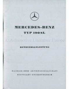 1959 MERCEDES BENZ 190 SL INSTRUCTIEBOEKJE DUITS