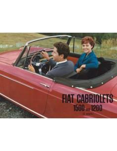 1959 FIAT 1200 & 1500 CABRIOLET BROCHURE ENGLISH