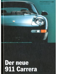 1994 PORSCHE 911 CARRERA HARDCOVER BROCHURE GERMAN