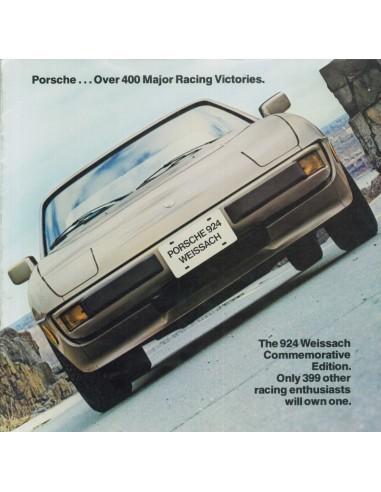 1981 PORSCHE 924 WEISSACH BROCHURE ENGLISH (USA)