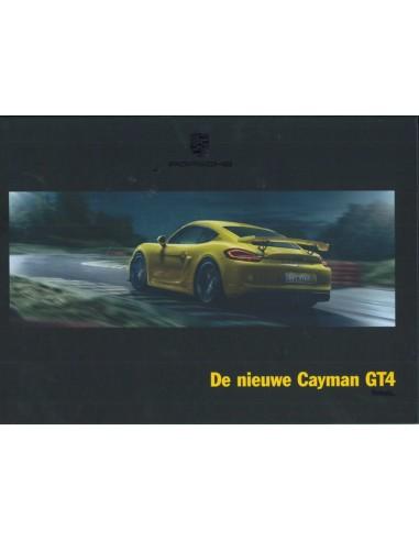 2015 PORSCHE CAYMAN GT4 HARDCOVER BROCHURE DUTCH