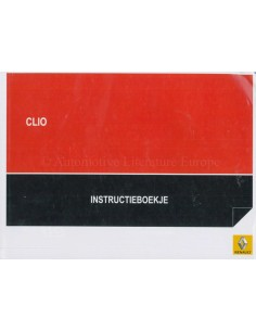 2013 RENAULT CLIO OWNERS MANUAL HANDBOOK DUTCH
