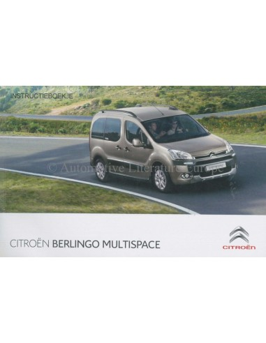 2013 citroen berlingo multispace owners manual handbook dutch rh autolit eu Xantia Model Berlingo UK