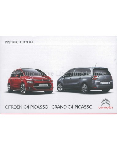 2015 citroen c4 picasso grand c4 picasso owners manual handbook d rh autolit eu citroen c4 picasso car manual 2015 Citroen C4 Cactus Pris