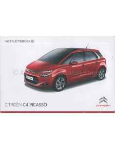 2014 CITROEN C4 PICASSO OWNERS MANUAL HANDBOOK DUTCH