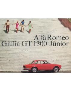 1967 ALFA ROMEO GIULIA GT 1300 JUNIOR BROCHURE DUITS