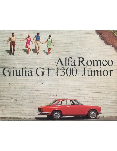 1967 ALFA ROMEO GIULIA GT 1300 JUNIOR BROCHURE GERMAN