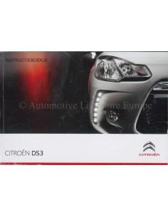 2010 CITROEN DS3 OWNER'S MANUAL DUTCH