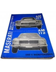 1969 MASERATI QUATTROPORTE I & MEXICO BETRIEBSANLEITUNG ITALIENISCH