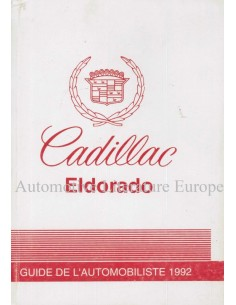 1992 CADILLAC ELDORADO OWNER'S MANUAL FRENCH (CANADA)