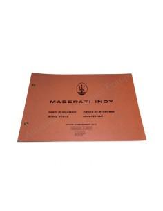 1969 MASERATI INDY SPARE PARTS MANUAL