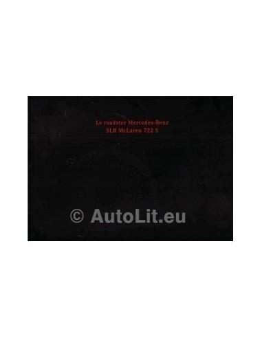 2008 MERCEDES BENZ SLR MCLAREN 722 S ROADSTER BROCHURE FRANS