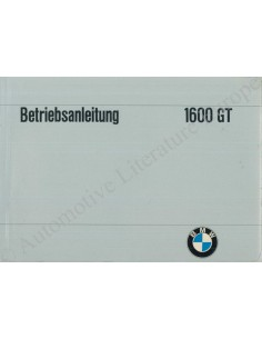 1968 BMW 1600 GT OWNER'S MANUAL GERMAN