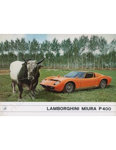 1967 LAMBORGHINI MIURA P 400 BROCHURE ITALIAANS