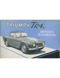 1963 TRIUMPH TR4 OWNER'S MANUAL ENGLISH