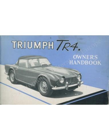 1963 TRIUMPH TR4 OWNER'S MANUAL ENGLISH