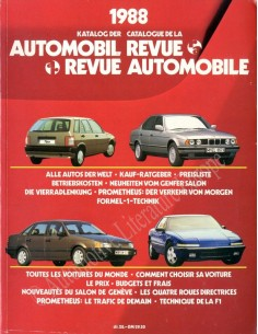 1988 AUTOMOBIL REVUE YEARBOOK GERMAN FRENCH