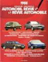 1988 AUTOMOBIL REVUE JAHRESKATALOG DEUTSCH FRANZÖSISCH