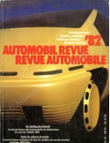 1982 AUTOMOBIL REVUE YEARBOOK GERMAN FRENCH