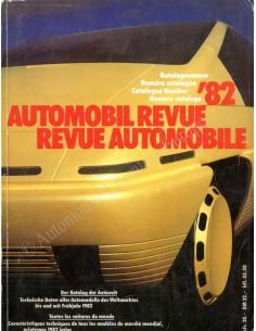 1982 AUTOMOBIL REVUE JAHRESKATALOG DEUTSCH FRANZÖSISCH