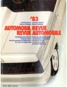 1983 AUTOMOBIL REVUE YEARBOOK GERMAN FRENCH